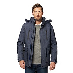 Maine New England - Blue waterproof chambray coat