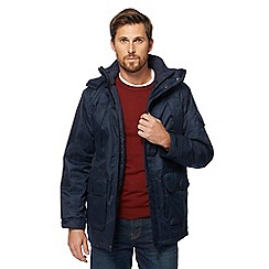 Maine New England - Big and tall blue waterproof herringbone coat