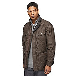 Maine New England - Brown coated cotton four pocket coat