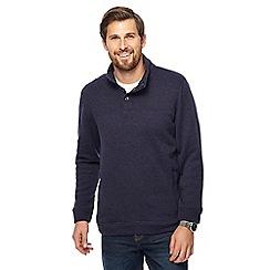 Maine New England - Dark blue knit-look funnel neck jumper
