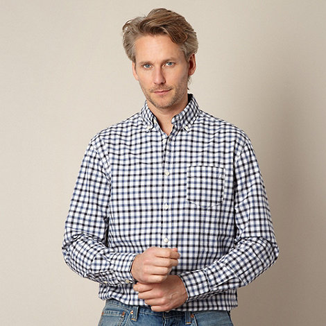 Maine New England - Blue shadow grid checked shirt