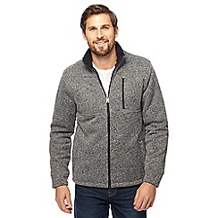 Maine New England - Grey Borg lined zip though jacket