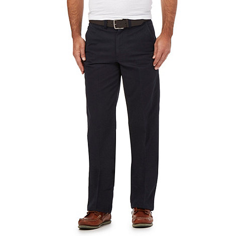 Maine New England - Navy belted straight leg chinos