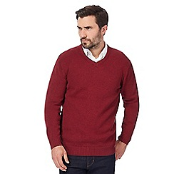 Maine New England - Big and tall dark red knitted jumper