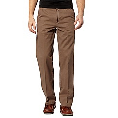 Maine New England - Big and tall brown classic chinos