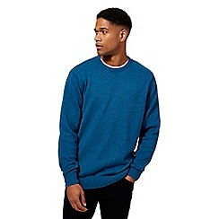 Maine New England - Blue twist knit crew neck jumper