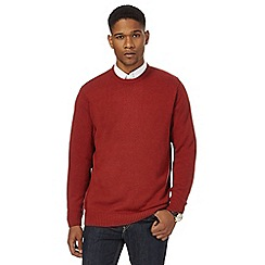 Maine New England - Big and tall red crew neck jumper