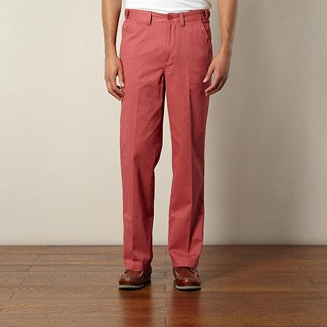 Maine New England - Big and tall dark pink straight leg chinos