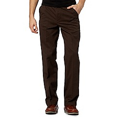 Maine New England - Big and tall brown straight leg chinos