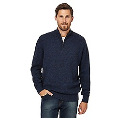 Maine New England - Blue textured jumper