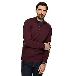 Maine New England - Dark red textured jumper