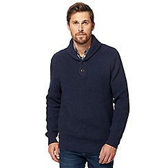 Maine New England - Navy shawl sweater