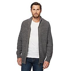 Maine New England - Dark grey baseball shawl cardigan