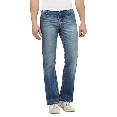 Maine New England - Big and tall blue bootcut jeans