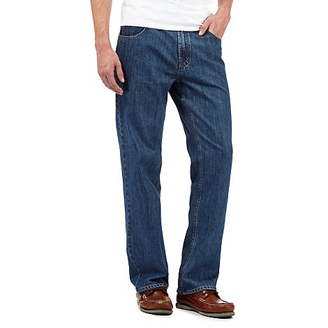 Maine New England - Big and tall blue straight leg jeans