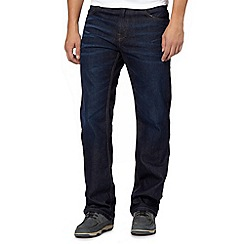 Maine New England - Navy washed straight fit jeans