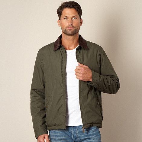 Maine New England - Khaki padded harrington jacket