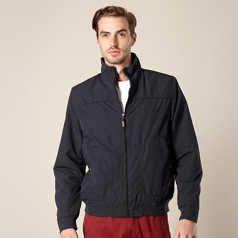 Maine New England - Big and tall navy funnel neck jacket