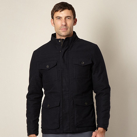 Maine New England - Big and tall navy moleskin coat