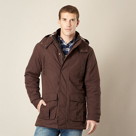 Maine New England - Chocolate padded parka coat