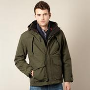 Big and tall khaki 3-in-1 waterproof jacket