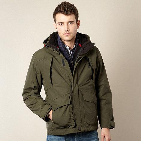 Maine New England - Khaki 3-in-1 waterproof jacket