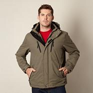 Olive shower resistant jacket