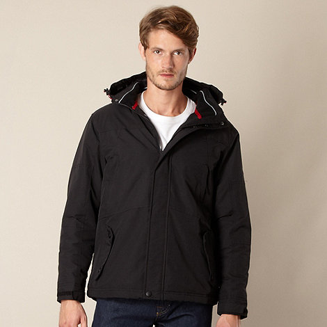 Maine New England - Black Shower resistant fleece lined jacket
