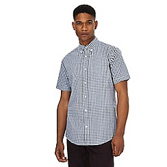 Maine New England - Big and tall navy gingham shirt