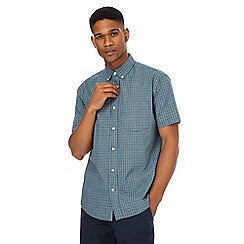 Maine New England - Big and tall navy checked shirt