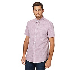Maine New England - Purple textured regular fit shirt