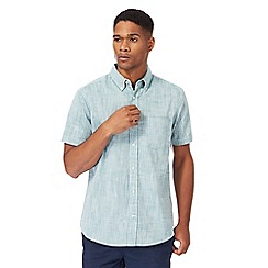 Maine New England - Green textured shirt