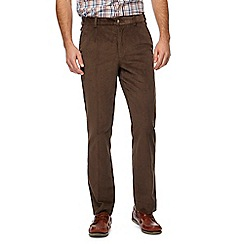 Maine New England - Big and tall dark green corduroy tailored fit trousers