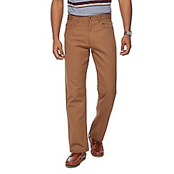Maine New England - Big and tall tan broken bedford trousers