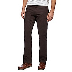 Maine New England - Big and tall brown pin dot straight trousers