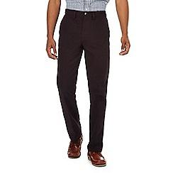 Maine New England - Plum herringbone chino trousers