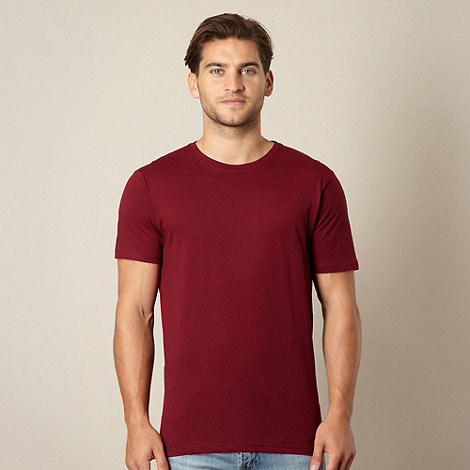 Maine New England - Big and tall dark red crew neck t-shirt