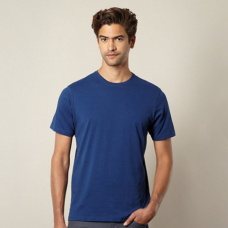Maine New England - Big and tall dark blue crew neck t-shirt