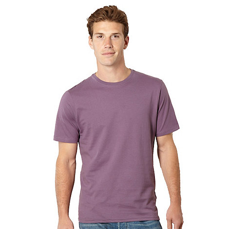 Maine New England - Big and tall mauve crew neck t-shirt