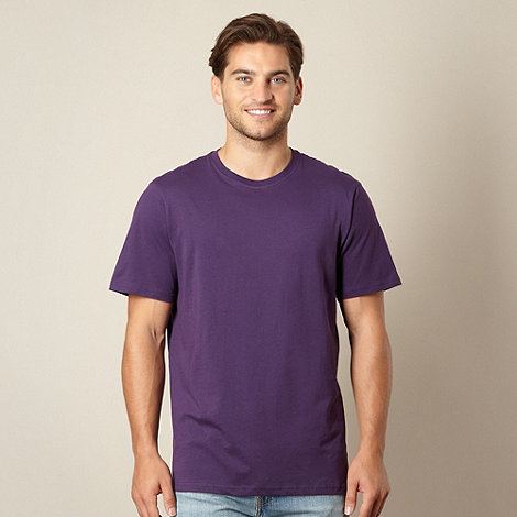 Maine New England - Big and tall purple crew neck t-shirt