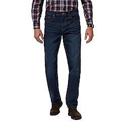 Maine New England - Dark blue mid wash straight leg jeans