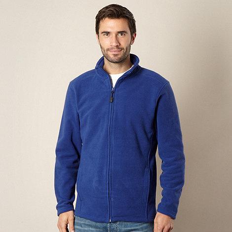 Maine New England - Royal blue zip through fleece