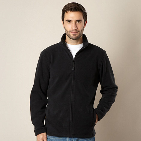 Maine New England - Black zip through fleece