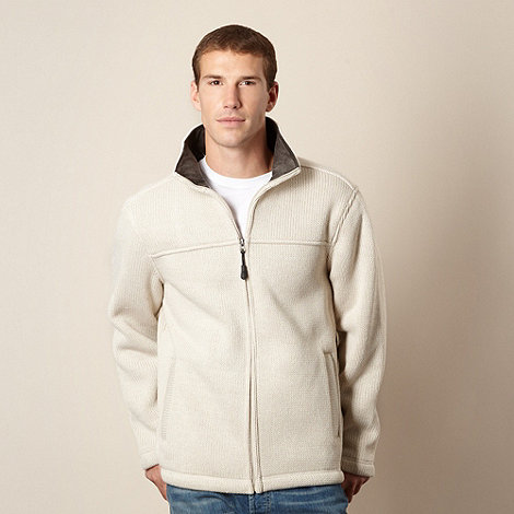 Maine New England - Natural cord collar zip through jumper