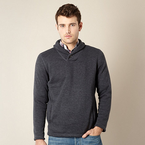 Maine New England - Blue shawl collar pull over