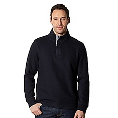 Maine New England - Big and tall navy ribbed panel pullover