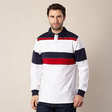 Maine New England - White long sleeve rugby top