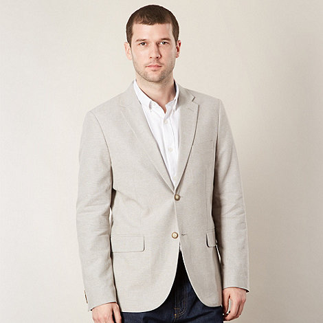 Maine New England - Beige single breasted linen blend jacket