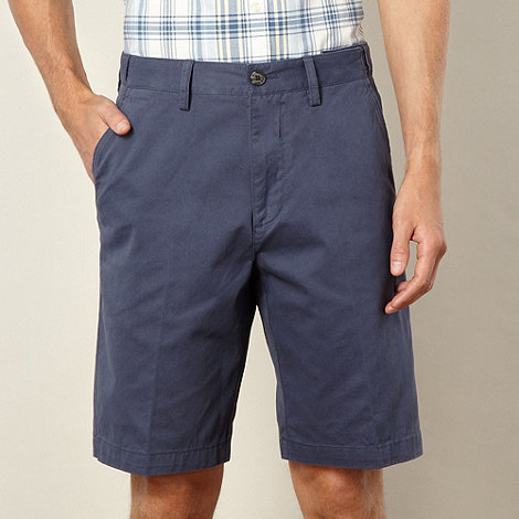 Maine New England - Big and tall dark blue washed chino shorts