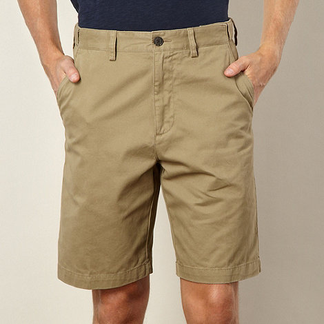 Maine New England - Tan washed chino shorts
